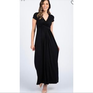 Pinkblush black nursing maternity maxi dress